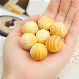 Wholesale Cedar Balls - Cedar Wood Chips Bug Repellent Moth Balls For Protection Boxes bags and your clothes Smell Removing Dehumidification 5pcs set WA1609