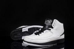 Wholesale Mens White Snakeskin Shoes - cheap 2 Retro 2s II Size Mens 11.5 boy basketball shoes white black grey fashion design good quality free shipping