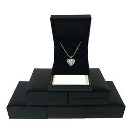Черный ящик см онлайн-6 шт. ювелирные изделия дисплей Box черный искусственная кожа свадьба обручальное ожерелье серьги организатор хранения подарочная коробка 8*6.5*2.7 cm