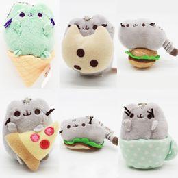 "Wholesale Plush Sun Toy - Hot Sale 5 style 9"" 23cm Pusheen Cookie & Icecream & Doughnut Rainbow cat Plush Doll Stuffed Animals Toys For Child Gifts"