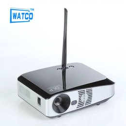 Wholesale Micro Ray - Wholesale-2016 Android 4.4 Wifi HDMI USB TF Blue Ray 3D Pico Portable HD 1080P LCD Video LED Mini DLP Projector For 4K micro projector
