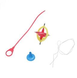 Wholesale Toy Led Gyroscope - 3pcs lot Amazing Multifunctional Manual Whirlwind LED UFO Peg-Top Music Gyroscope Toy