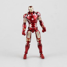 "Wholesale Model Armor - Select Iron Man MK43 Mark XLIII Armor PVC Action Figure Collectible Model Toy 7"" 18cm Action Anime Figures Kids Gifts Toys"