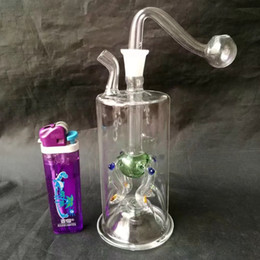 Wholesale Led Features - Dragonet features filter cigarette glass pipes for smoking with lamp glass filter pot and glass water pipes with beautiful led light