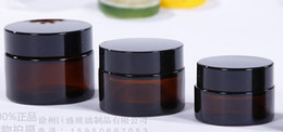 Wholesale Wholesale Color Glass Jars - amber color 5ml glass jar tempered glass storage jars dab wax jar container oil concentrate & cosmetic cream container