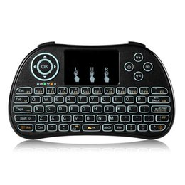 Wholesale Pro Portable Box - P9 Portable Mini Touchpad Wireless Backlight Keyboard Black 2.4GHz gaming keyboard Air mouse for MXQ MXQ PRO M8S S912 TV BOX