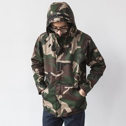 Wholesale Military Style Jacket Men Green - Camouflage Jacket Coat Men Brand Clothing Mens Hooded Jackets And Coats Fashion Style Casual Military Male Jacket Windbreaker