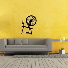 Wholesale New Product For Spinning Wheel Removable Wall Personality Stickers Vinyl Decal Home Bedroom Sitting Room Diy Decor