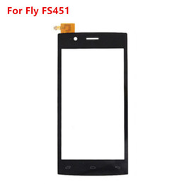 touchscreen digitizer glass replacement Promo Codes - Wholesale- 4.5 inch touchscreen For Fly FS451 FS 451 touch screen digitizer front glass lens panel sensor replacement With Sticker