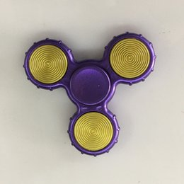 Wholesale Use Toys Wholesale - Hand Spinners New Desings 7 colors Fidget Spinners Use Imported Flange Bearing Spiners Anti-Anxiety Decompression Toys EDC Toys Up to 4 Min