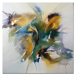 Wholesale fish oil wall paintings - KGTECH Swimming Fish Paintings Handpainted Artwork on Canvans 2 Sizes Avaliable for Wall Art Home Decor Living Room