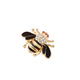 Wholesale Scarves Brooch Buckle - Wholesale- The new fashion cute bee brooch wedding crystal rhinestone bride scarf chain scarves buckle brooch for women