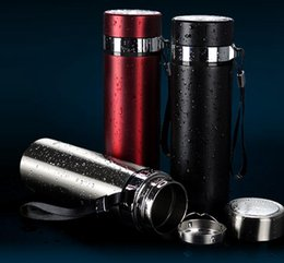 Wholesale Thermo Bottles Wholesale - Stainless Steel Water Bottle Insulated Vacuum Bottle 450ML Creative Thermo Bottle Vaccum Cup 3 Colors OOA1287