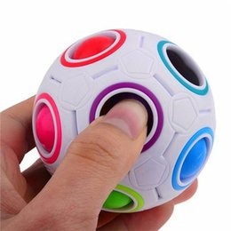 magic ball games Promo Codes - Creative Spherical Magic Cube Speed Rainbow Ball Football Puzzles Kids Educational Learning Toys for Children Adult Gifts Hottest game