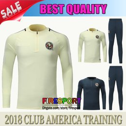 Wholesale America Jacket - TOP QUALITY 17 18 CLUB AMERICA Jacket Training suit Kits Jersey Survetement 17 18 Soccer Tracksuit Chandal Maillot de foot football shirts