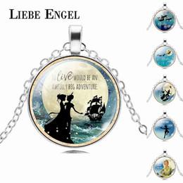 Wholesale Color Peter Pan - Wholesale- LIEBE ENGEL Silver Color Vintage Chain Jewelry Peter Pan Necklace Neverland Statement Necklaces & Pendants Choker Necklace Women