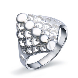 Wholesale Top Beautiful Rings - Top Quality Fashion Sterling Silver Women Handmade Jewelry Unique Gifts Beautiful Eternity Band Ring Size 5 6 7 8 JZ0080
