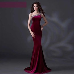 Wholesale Dress Evening Night Party - Lady Spring Autumn Long Party Dresses One Shoulder Halter Women Dress Red Tighted Sexy Bodycon Party Sleeveless Evening Dresses