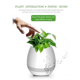 Wholesale Planter Outdoor - Portable bluetooth mini speaker music flower planter night light touch play flowerpot colorful creative music toys outdoor speakers