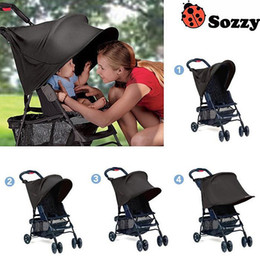 Wholesale Rain Cover Baby - Wholesale- Sozzy Baby Stroller Rag Shade Blocks Sun Rays Cover Baby Car Awning Rain Tent Multifunctional Stroller Protection Accessory #F
