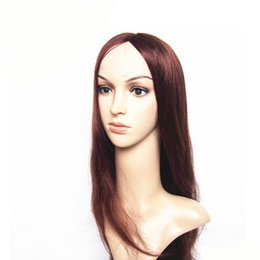 Wholesale Remy U Part Wig - Hair Products Middle Part Unprocessed Silky Straight U-Part Lace Front Wig Glueless Human Hair wig for black women