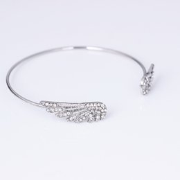 Wholesale Western Style Bracelets - 2017 New Fashion western style alloy Adjustable opening wing Bracelets bangle gift for women girls free shipping