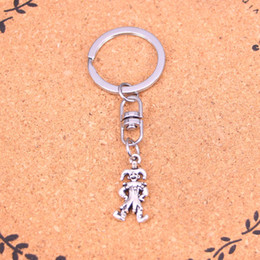 Wholesale Antique Clown - New Fashion clown joker jester Keychains Vintage Antique Silver plated Keyholder fashion Solid Pendant Keyring gift