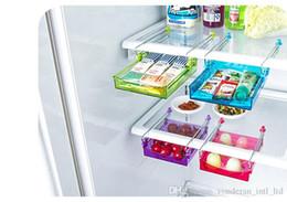 Wholesale Wholesale Spice Racks - multi-purpose storage holders Creative kitchen refrigerator fresh layer separators fresh glove box storage rack