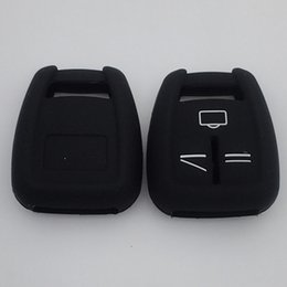 Wholesale Opel Keys Button - 20pcs lot Silicone key cover FOb case car key shell Skin for Opel Vauxhall Corsa Astra 3 button remote key rubber silicon cover
