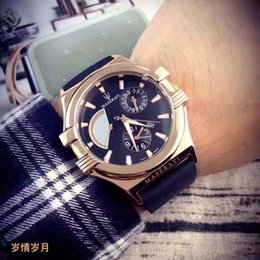 Wholesale Automatic Sport Watches For Sale - 2017 hot sale automatic quartz watch for a man to leave the shore background transparent blue dial watch The fashion leisure belt