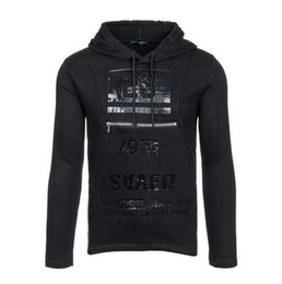 Wholesale Alphanumeric Xl - The new fashion leisure fashion men sweater long sleeved Hoodie alphanumeric printing coat cotton blending garment wholesale sales