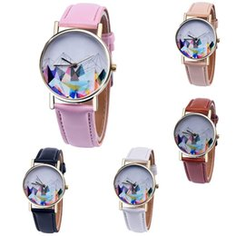 Wholesale Mens Colorful Watches - Unisex Mens Women Colorful Mountain Leather Watch Fashion 2017 Wholesale Casual Ladies Dress Retro Wrist Quartz Watches For Men
