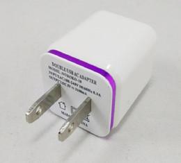 Canada Métal Dual USB mur US plug 2.1A Adaptateur secteur Chargeur Wall Plug 2 port pour samsung galaxy note LG tablette ipad Offre