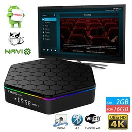 Wholesale Dual Core 5g - Android Cable Box Octa Core 2GB 16GB S912 Android 7.1 Streaming Media Player KDMC17.1 Fully Loaded 2.4G+5G Dual band WiFi Bluetooth 4.0