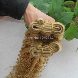 Wholesale blonde deep wave remy extensions - Bleach Blonde hair weave brazilian naturel deep wave 1pcs lot Blonde human remy hair extensions 8-26 Inch