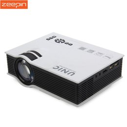 Wholesale Business Card Usb - Wholesale- 2016 New Original UNIC UC40+ Mini Pico portable 3D Projector 800Lm 800 x 480 Pixels \With HDMI AV USB SD Card input