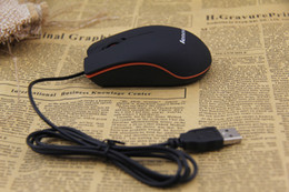Wholesale Gaming Mouse Sale - Free shipping hot sale lenovo M20 3D wired USB optical gaming mouse office mice with retail box for PC notebook laptop