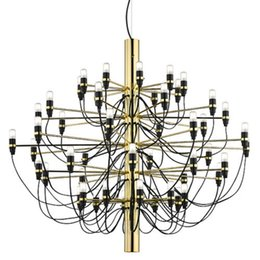 Wholesale Chandelier Black Light Bulbs - Chandelier, Modern Designer 18 30 50 Bulbs Pendant Lamp Chandelier Pendant Lights for Living Room Dinning Room Decor, gino sarfatti