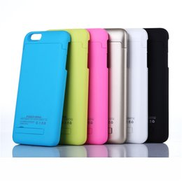 "Wholesale Iphone External Battery Cover - iphone 7plus External Battery Backup Power Bank Charger Cover Case Powerbank case for iPhone 6 6s Plus 4.7"" 5.5"" inch"
