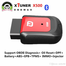 Wholesale Android Bmw Bluetooth - xTuner X500 Android Car Scanner Diagnostic Tool Diagnostic-Tool OBDII ABS Battery DPF EPB Oil TPMS IMMO Key Injector Reset