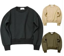 Wholesale Kpop Pullover - kanye yeezus streetwear designer hiphop kpop clothes M-XL green Black oversized hoodie drake mens fashion clothing hoodies men