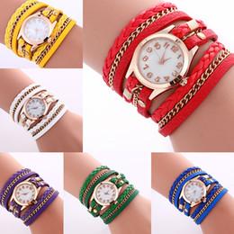 Vente chaude Femmes Montres Lady Wrap Montres Cadran Rond Charme Bracelets Montres Mix HOT déclaration (230002) ? partir de fabricateur