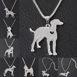 Wholesale Dogs Metal Chains - 8 models Maxi Statement Metal Alloy Chihuahuas Dog Choker Necklace Chain Collar Pendant Fashion animal jewelry dog necklace 161912