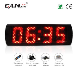 Wholesale Countdown Timer Led Display - [GANXIN]Hot Sell 5 inch 4 Digits Semi-outdoor LED Display Wall Clock with Black Aluminum Alloy Frame Timer Countdown and Countup Function