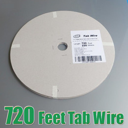 Wholesale Tab Solar Cell - cell Hot Sale 220 Meters 720feet  Roll 1.80x0.16mm solar bus bar for PV Ribbon Tabbing wire tab wire TUV approved