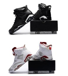 Wholesale Cat Platinum - Cheap Basketball Shoes 6 BLACK CAT Sports Shoes 6s ALTERNATE Sneakers VI 6 Athletic Wholesale White Pure Platinum-Gym Red Trainers
