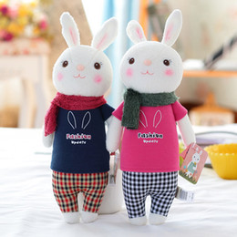 Wholesale Toys Tiramisu - Wholesale-Tiramisu Rabbit Plush Toys Metoo Doll Kids Gifts 8 Styles Bunny Stuffed Animal Lamy Rabbit Toy Birthday Gifts 35cm