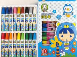Toptan 18 renk çocuk boya kalemi yağlıboya sticks sanat kırtasiye çizim araçları Öğrenci anaokulu diy Eğitim Oyuncaklar Çizim Kalem nereden