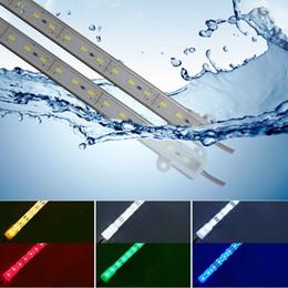 duro industrial Rebajas Pegamento resistente al agua llevó luces de la barra 50 cm 100 cm 21 W / M 0.5 M 1 M IP68 llevó la luz de la barra DC 12 V 5630 LED Hard Strip Bar lámpara