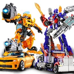 Wholesale Educational Puzzle Toys For Children - Educational Toy for boys Transformer Toys Robot Puzzle Children new model toy Christmas gift Yellow color toys for over 3 years kids